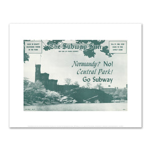 Amelia Opdyke Jones, New York City Transit Authority, The Subway Sun, Normandy? No! Central Park! Go Subway, 1957, Art Prints in various sizes by Museums.Co