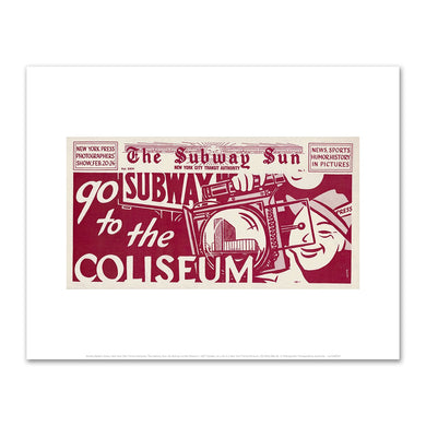 Amelia Opdyke Jones, New York City Transit Authority, The Subway Sun, Go Subway to the Coliseum, 1957, Art Prints in various sizes by Museums.Co