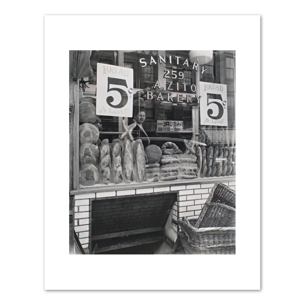 Berenice Abbott, Bread Store, 229 Bleecker Street, Fine Art Prints in various sizes by Museums.Co