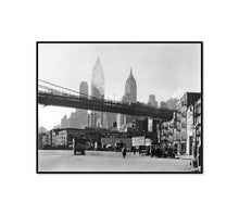 Waterfront, South Street, Manhattan by Berenice Abbott Artblock