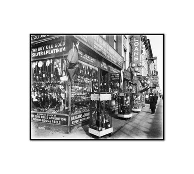 Pawn Shop, 48 Third Avenue, Manhattan by Berenice Abbott Artblock