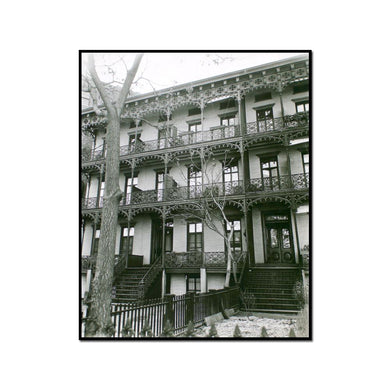 Wrought Iron Ornament, 112-114 West 11th Street, Manhattan by Berenice Abbott Artblock