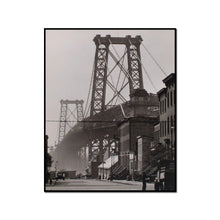 Williamsburg Bridge, South Eighth and Berry Streets, Brooklyn by Berenice Abbott Artblock