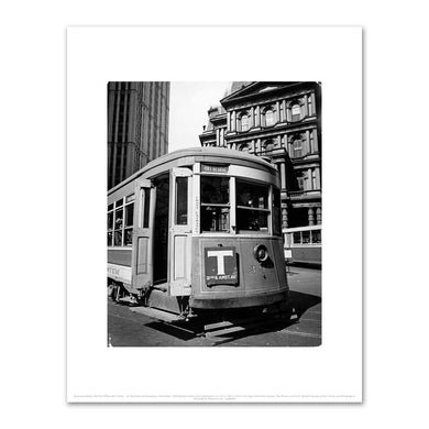 Berenice Abbott, Old Post Office with Trolley - II, Park Row and Broadway, Manhattan, 1938, New York Public Library. Fine Art Prints in various sizes by Museums.Co