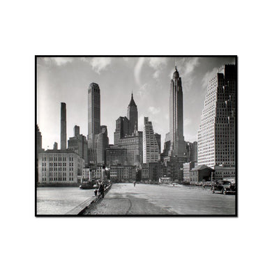 Manhattan Skyline: I. South Street and Jones Lane, Manhattan by Berenice Abbott Artblock
