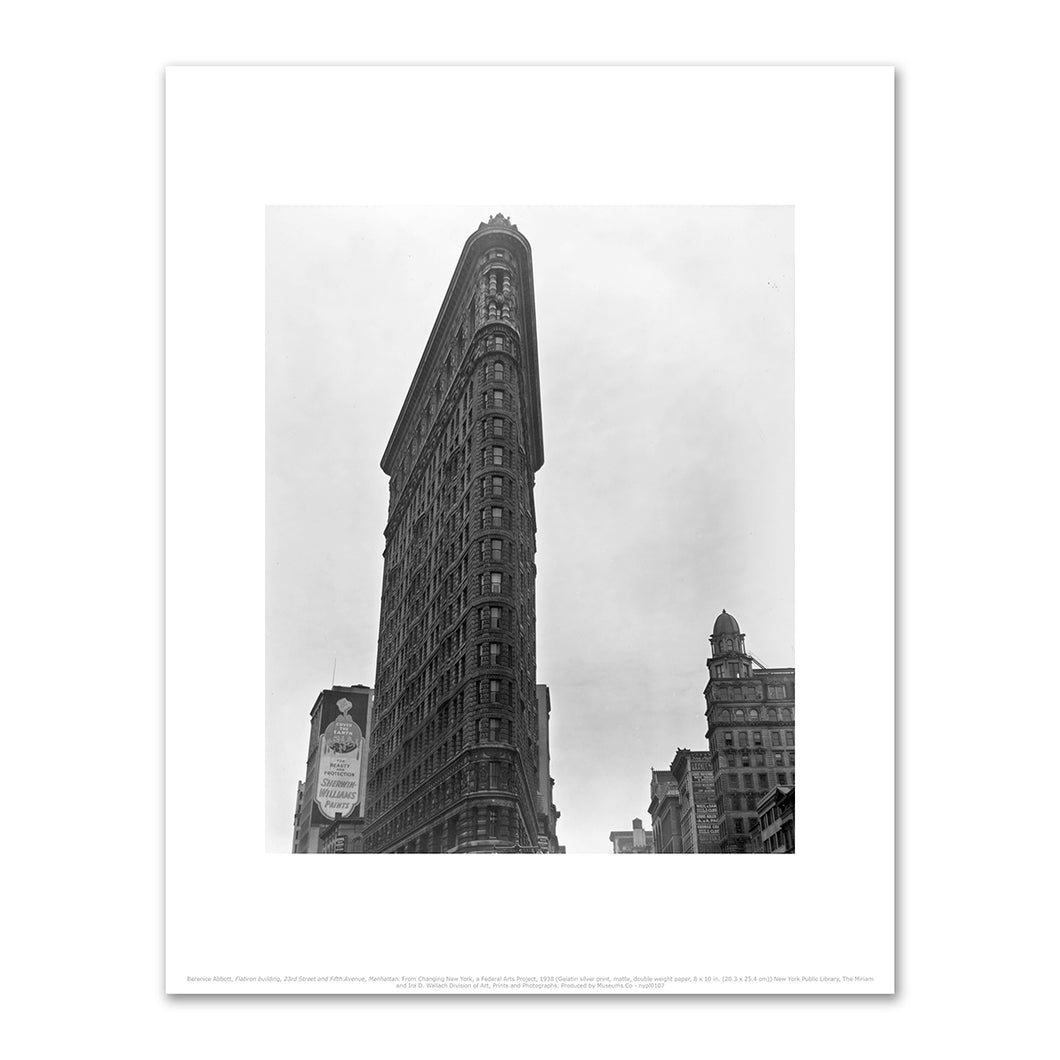 Berenice Abbott, Flatiron building, 23rd Street and Fifth Avenue, Manhattan. From Changing New York, a Federal Arts Project, 1938, Fine Art Prints in various sizes by Museums.Co