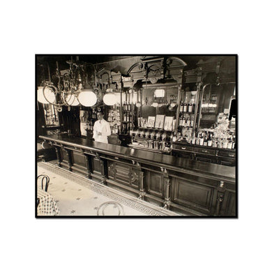 Billie's Bar, 56th Street and First Avenue, Manhattan by Berenice Abbott Artblock