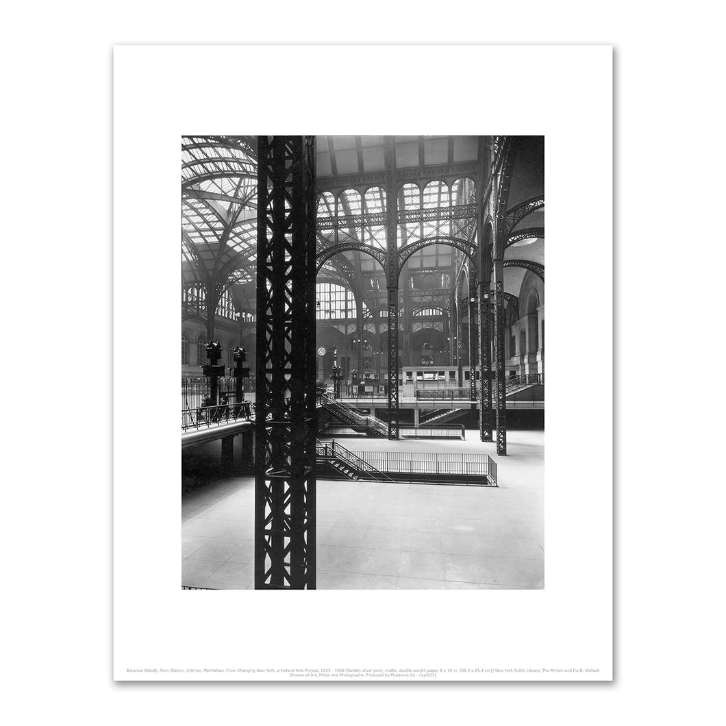 Berenice Abbott, Penn Station, Interior, Manhattan. From Changing New York, a Federal Arts Project, 1935 - 1938, Fine Art Prints in various sizes by Museums.Co