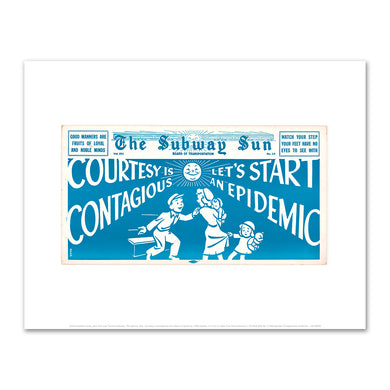 Amelia Opdyke Jones, New York City Transit Authority, The Subway Sun, Courtesy is Contagious Let's Start an Epidemic, 1949, New York Transit Museum. Fine Art Prints in various sizes by Museums.Co