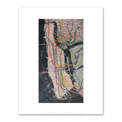 Paula Scher, NYC Transit, 2007, Fine Art Print in various sizes by Museums.Co