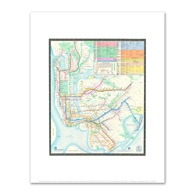 New York City Subway Map, Diamond Jubilee by Michael Hertz Associates