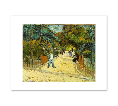 Vincent van Gogh, Entrance to the Public Gardens in Arles, 1888, Fine Art Prints in various sizes by Museums.Co