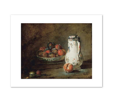 Jean-Baptiste Simeon Chardin, A Bowl of Plums, ca. 1728, Fine Art Prints in various sizes by Museums.Co