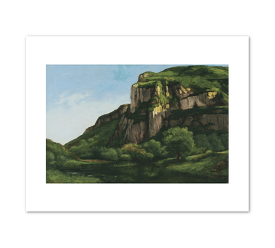 Gustave Courbet, Rocks at Mouthier, circa 1855, Fine Art Prints in various sizes by Museums.Co