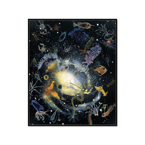 Alexis Rockman, Biosphere: Hydrographer's Dream, 1994, Framed Art Print with black frame in 3 sizes by 2020ArtSolutions