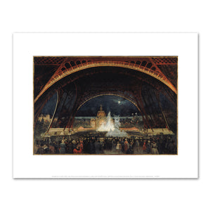 Georges Roux, Night Party at the Universal Exhibition in 1889, under the Eiffel Tower, Fine Art prints in various sizes by Museums.Co