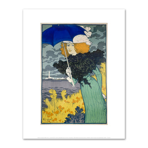 Eugène Grasset, Young Woman with an Umbrella (Jeune femme à l'ombrelle), Fine Art prints in various sizes by Museums.Co