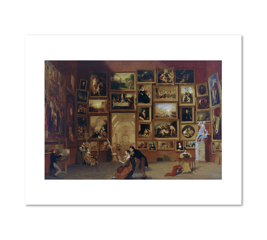Samuel Morse, Gallery of the Louvre, 1831–33, Terra Foundation for American Art. Fine Art Prints in various sizes by Museums.Co