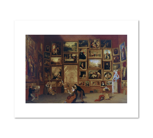 Samuel Morse, Gallery of the Louvre, 1831–33, Fine Art Prints in various sizes by Museums.Co