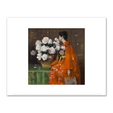 William Merritt Chase, Spring Flowers (Peonies), by 1889. Fine Art prints in various sizes by Museums.Co