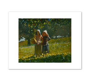 Winslow Homer, Apple Picking, 1878, Fine Art Prints in various sizes by Museums.Co