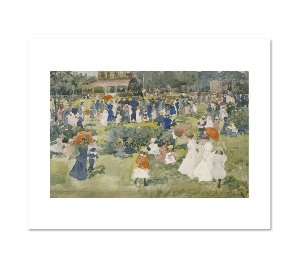 Maurice Prendergast, Franklin Park, Boston, c. 1895, Fine Art Prints in various sizes by Museums.Co