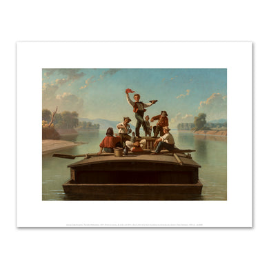 George Caleb Bingham, The Jolly Flatboatmen, 1877–78, Terra Foundation for American Art. Fine Art Prints in various sizes by Museums.Co