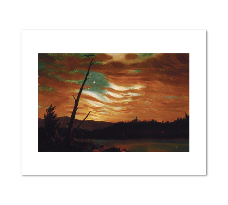 Frederic Edwin Church, Our Banner in the Sky, 1861, Terra Foundation for American Art. Fine Art Prints in various sizes by Museums.Co