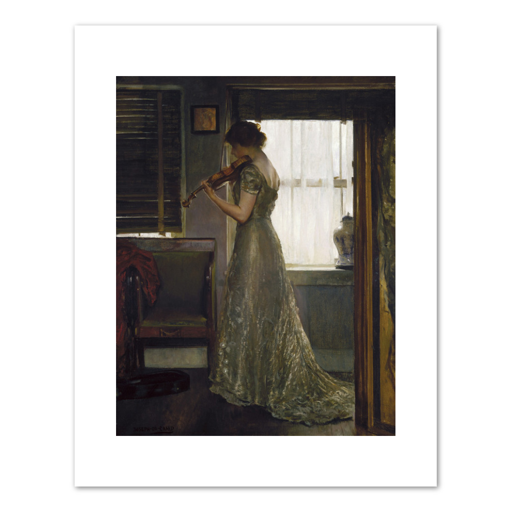 Joseph DeCamp, The Violinist, c. 1902, Fine Art Prints in various sizes by Museums.Co