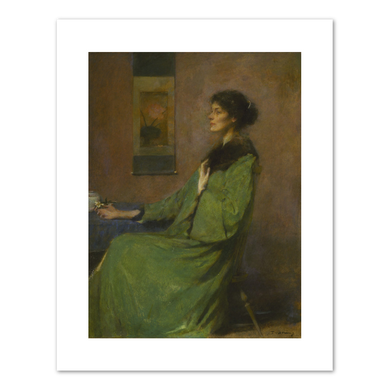 Thomas Wilmer Dewing, Portrait of a Lady Holding a Rose, 1912, Fine Art Prints in various sizes by Museum .Co
