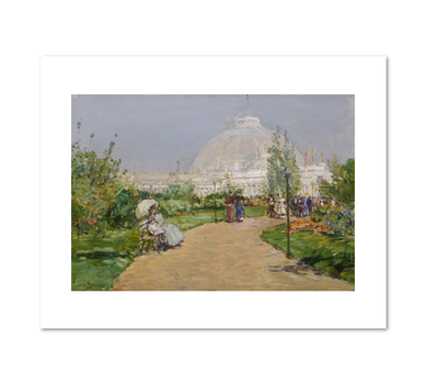 Frederick Childe Hassam, Horticulture Building, World's Columbian Exposition, Chicago, 1893, Fine Art Prints in various sizes by Museums.Co