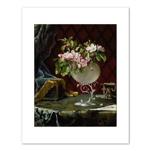 Martin Johnson Heade, Still Life with Apple Blossoms in a Nautilus Shell, 1870, Fine Art Prints in various sizes by Museums.Co