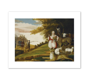 Edward Hicks, A Peaceable Kingdom with Quakers Bearing Banners, 1829 or 1830, Fine Art Prints in various sizes by Museums.Co