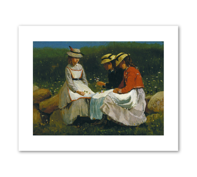 Winslow Homer, Girls in a Landscape, c. 1873, Fine Art Prints in various sizes by Museums.Co