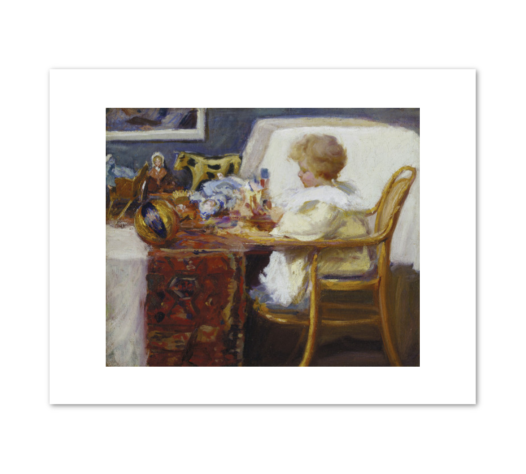 Frederick MacMonnies, Baby Berthe in a High Chair with Toys, 1896 or 1897, Terra Foundation for American Art. Fine Art Prints in various sizes by Museums.Co