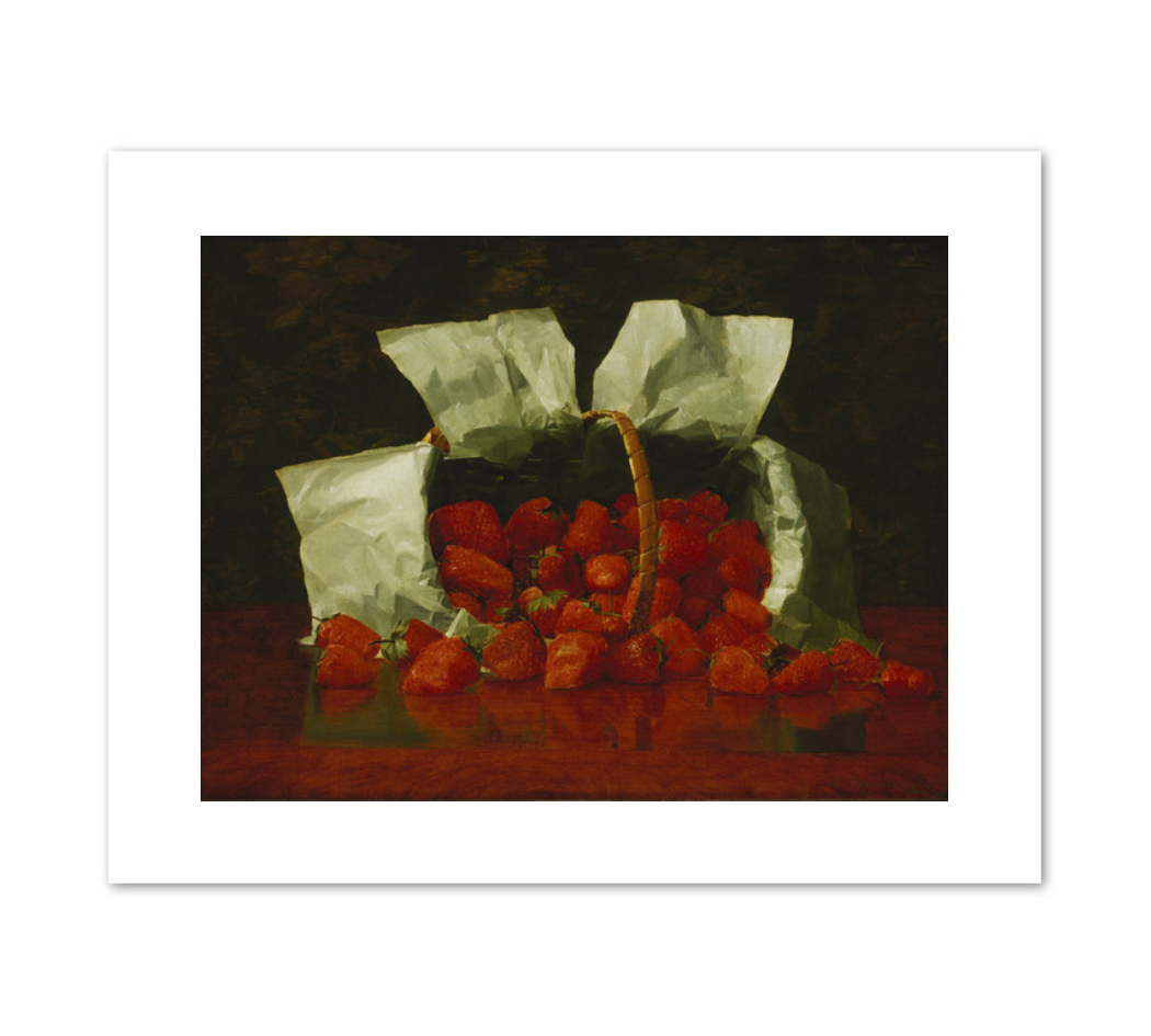 William J. McCloskey, Strawberries, 1889, Terra Foundation for American Art. Fine Art Prints in various sizes by Museums.Co