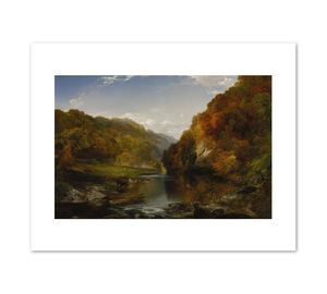 Thomas Moran, Autumn Afternoon, the Wissahickon, 1864, Terra Foundation for American Art. Fine Art Prints in various sizes by Museums.Co