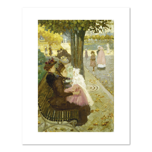 Maurice Prendergast, The Luxembourg Garden, Paris, between 1890 and 1894, Fine Art Prints in various sizes by Museums.Co