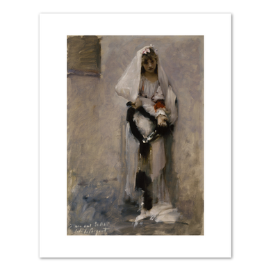 John Singer Sargent, A Parisian Beggar Girl, c. 1880, Fine Art Prints in various sizes by Museums.Co