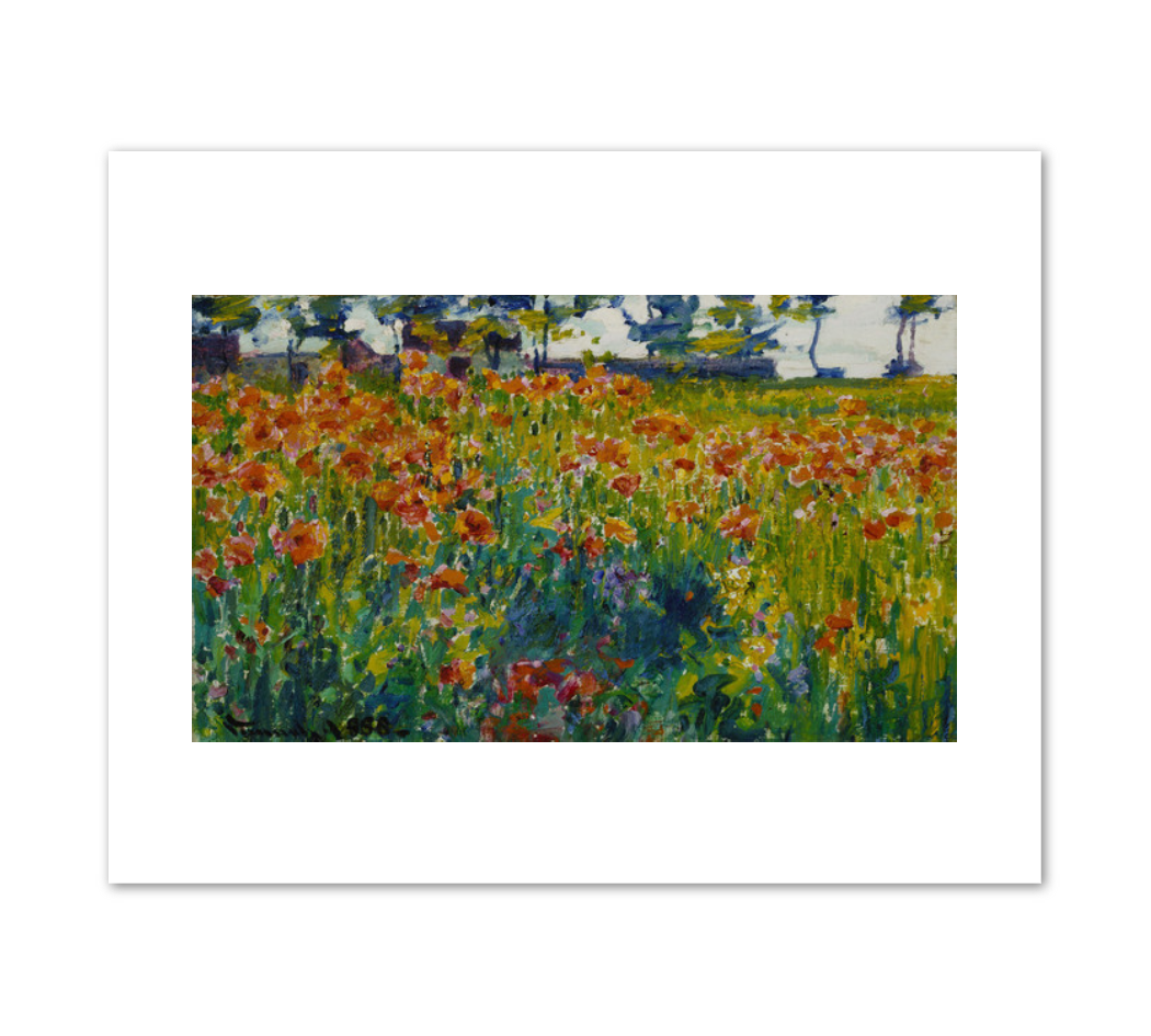 Robert Vonnoh, Poppies in France, 1888, Fine Art Prints in various sizes by Museums.Co