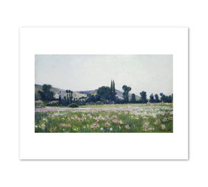 Theodore Wendel, Flowering Fields, Giverny, 1889, Terra Foundation for American Art. Fine Art Prints in various sizes by Museums.Co