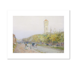 Childe Hassam, Commonwealth Avenue, Boston, c. 1892, Fine Art Prints in various sizes by Museums.Co