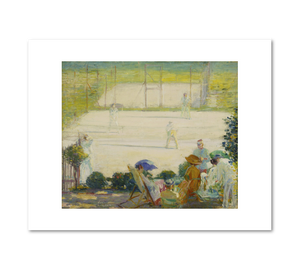 Tennis Court at Hôtel Baudy by Karl Anderson