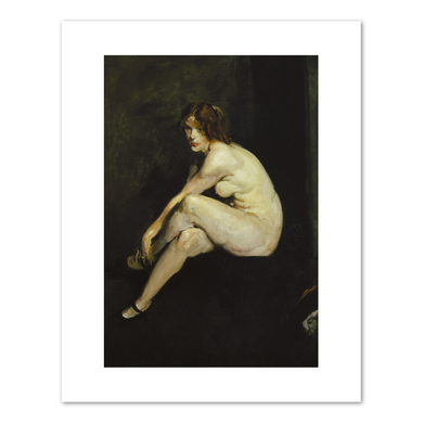 George Bellows, Nude Girl, Miss Leslie Hall, 1909, Fine Art Prints in various sizes by Museums.Co