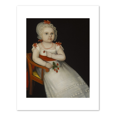 Ammi Phillips, Mary Elizabeth Smith, 1827, Terra Foundation for American Art. Fine Art Prints in various sizes by Museums.Co