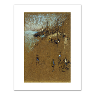 James Abbott McNeill Whistler, The Zattere: Harmony in Blue and Brown, c.1879, Terra Foundation for American Art. Fine Art Prints in various sizes by Museums.Co