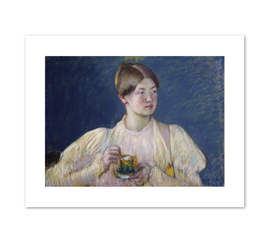 Mary Cassatt, La Tasse de thé, 1897, Terra Foundation for American Art. Fine Art Prints in various sizes by Museums.Co