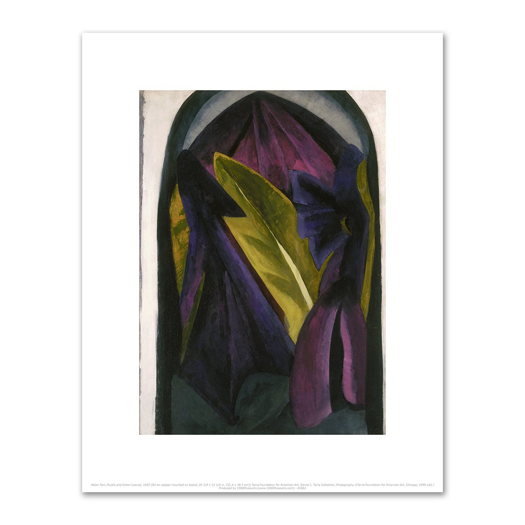 Helen Torr, Purple and Green Leaves, 2020ArtSolutions