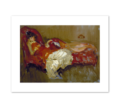 James Abbott McNeill Whistler, Note in Red: The Siesta, by 1884, Terra Foundation for American Art. Fine Art Prints in various sizes by Museums.Co