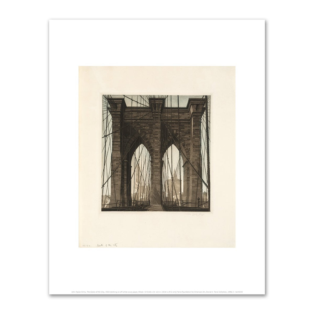 John Taylor Arms, The Gates of the City, 1922, Art Print in 4 sizes by 2020ArtSolutions